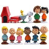 Babioms Mini Juego de Figuras - Caricatura Pastel Decoración Suministros - 12pcs Peanut Comics...