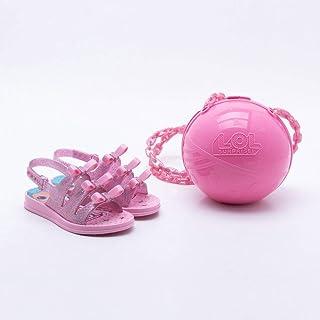 21d92f155 Sandália Grendene Infantil Lol Bag Rosa
