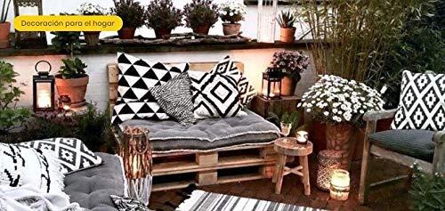 Estructura de Sofá Hecha con Palets/Pallets Color Madera natural con Respaldo para Interior & Exterior para Patio, Jardin Hecho con Palets de Madera