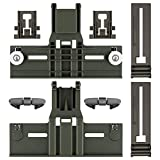 Upgraded 8 Packs Polymer Material W10350375 Dishwasher Top Rack Adjuster & W10195840 Dishwasher Positioner & W10195839 Rack Adjuster & W10508950 Stop Track Replacement for Whirlpool WDTA50SAHZ0