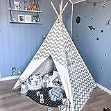 SAsagi Vierkantig leinwand wellpappe kinderspielhaus,Innen- und indischen Stil holzstange Kinder...