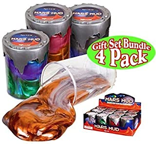 Toysmith Mars Mud (Slime/Putty) Complete Gift Set Party Bundle - 4 Pack