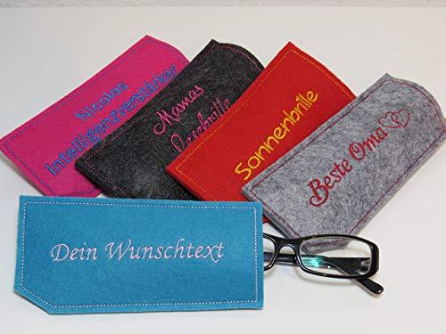 Brillenetui aus Filz - individuell gestalten - Wunschtext - personalisiert