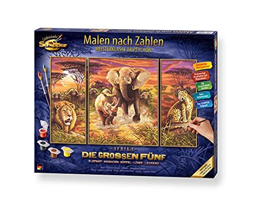 Schipper - 609260520 - Afrika Big Five Trypticon - Tableau à Dessin - Taille 40 x 50 cm