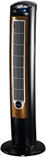 "Lasko Products Portable Electric 42"" Oscillating Tower Fan with Fresh Air Ionizer, Timer and Remote Control for Indoor, Bedroom and Home Office Use, Blackwood T42950"