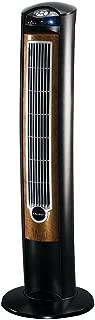 Lasko T42950 Wind Curve Tower Fan with Remote Control and Fresh Air Ionizer, Black Woodgrain