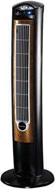 """Lasko Products Portable Electric 42"""" Oscillating Tower Fan with Fresh Air Ionizer, Timer and Remote Control for Indoor, Bedroom and Home Office Use, Blackwood T42950"""