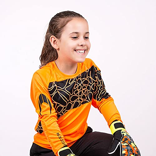 HO Soccer Jersey Furious Camiseta De Portero, Unisex niños, Naranja/Negro, 12