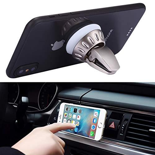 Autotelefoonhouder, siliconen zuiger, universeel, Car Air Vent-Telefon-houder, standplaats voor iPhone, Samsung, Sony, Lenovo, HTC, Huawei en andere smartphones, kleur zwart, goud