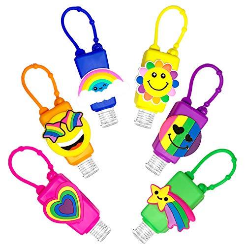 Niedliche Reise-Flaschen für Handgel, 30 ml, tragbar, Leere Flasche für Handwaschflüssigkeit, Seife, Shampoo, Toilettenartikel, Duschgel, kleine Mini-Größe Regenbogen