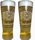 BUDWEISER Pint Glass New Shape New Style (Set of 2)