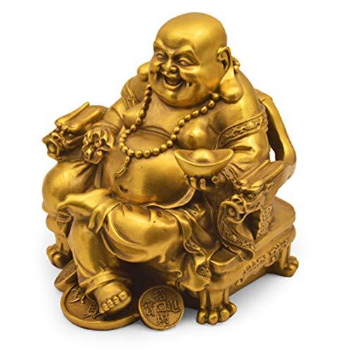 FFDGHB Dekorative Kupfer Thai Buddha Apokalypse Exotische Figur Dekorationen Finanzen Roll Liegender Buddha Nafu Hause Feng Shui Dekoration Handwerk Geschenke 15 * 15 * 17 cm