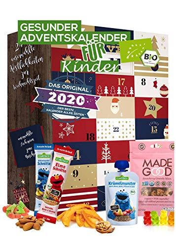 Kinder Adventskalender gesund BIO-Qualität I gesunde Snacks Kinder I 24 Überraschungen im Kinder - Kalender I gesunde Süßigkeiten Kindergarten Snacks