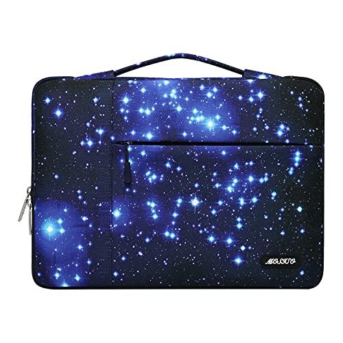 MOSISO Funda Protectora Compatible con 13-13,3 Pulgadas MacBook Pro/MacBook Air/Ordenador Portátil, Funda de Transporte Maletín Multifuncional de Poliéster Starry Night, Negro