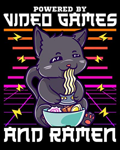 Powered By Video Games & Ramen: Powered By Video Games & Ramen Anime Cat 2021-2022 Weekly Planner & Gratitude Journal (110 Pages, 8