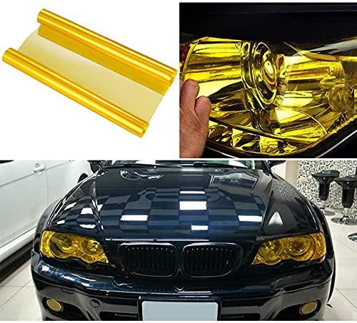 NewL Scheinwerfer-Folie 30 * 120cm, Wasserdicht Auto Scheinwerfer Folie Tönungsfolie Nebelscheinwerfer (Gelb)