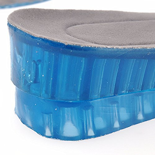 Pixnor 4,5 cm altura ajustable 2-capa de silicona plantillas aumento zapato levanta cojines del zapato