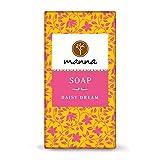Manna Seife | Rosafarbene Spezialität auch für trockene Haut | Zaubergartenseife | 90g | 100% natürliche Inhaltsstoffe, Sanfte Handpflege Handgefertigt, Vegan, Palmölfrei, Tierversuchsfreiheit