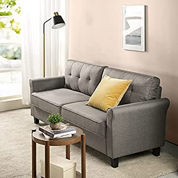 ZINUS Sayan Sofa Couch / Easy Tool-Free Assembly Sand Grey