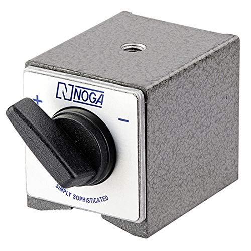 NOGA Magnetic Holder Bed - Model: DG0036 AUTO POWER: On/off switch HOLDING POWER: 176 lbs. With 8mm Thread Dimensions: 1-7/8' x 2-3/8' x 2'