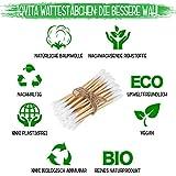 Lot de 6 paquets de 200 cotons-tiges en bambou - 100 % sans plastique, biodégradable, végétalien et durable - Produit naturel pur.
