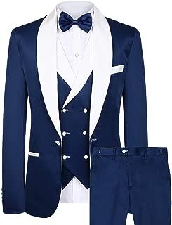 CMDC Men's New Three- pc Contracted Style Groomsman Suit