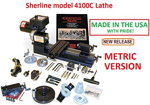 Best Prices! Sherline 4100C Metric Version 8 Lathe + The C Package. (CNC Upgrade not Included but c...