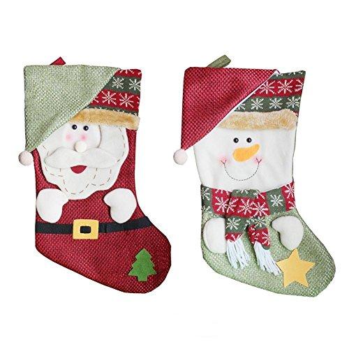 LD kerstversiering 2 stuks sokken kous cadeaubuidel boom decoraties producten ornament kerst (levertijd is 3-7 dagen)