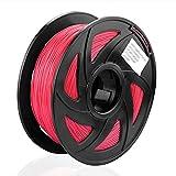 S SIENOC 1 paquete de filamento impresora 3D HIPS 1.75mm Impresora - Con 1 kg de carrete (HIPS rojo)