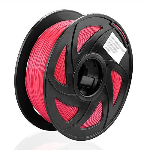 S SIENOC 1 paquete de filamento impresora 3D TPU 1.75mm Impresora - Con 1 kg de carrete (TPU Rojo)