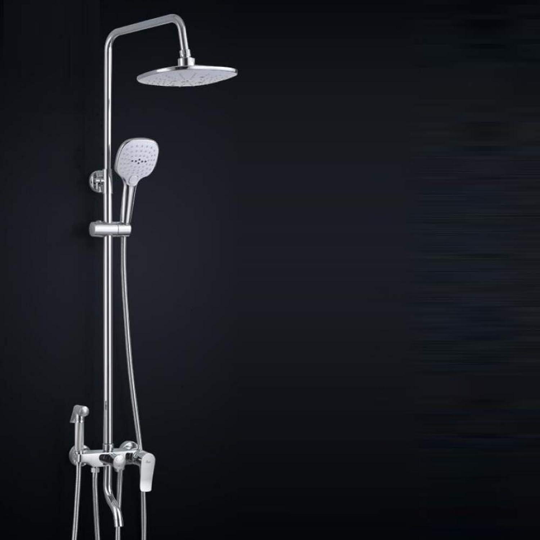 LWUDI Duscharmatur Regendusche Duschsystem, Duschkpfe und Handbrausen, alle Bronze Vierte Gang Baptist Spritzpistole, Dusche Aufzug Dusche Set, Handbrause Hochdruck, Filter Handbrause