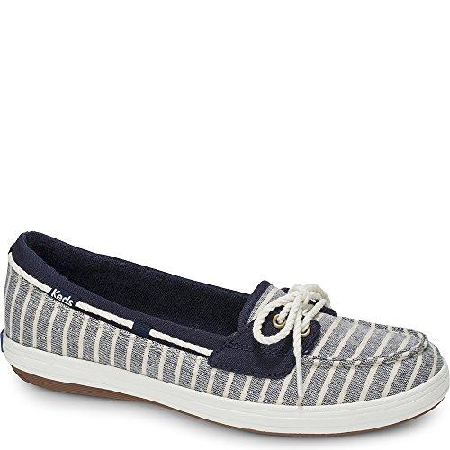 Keds Women's Glimmer Breton Stripe Sneaker, Navy, 5 M US