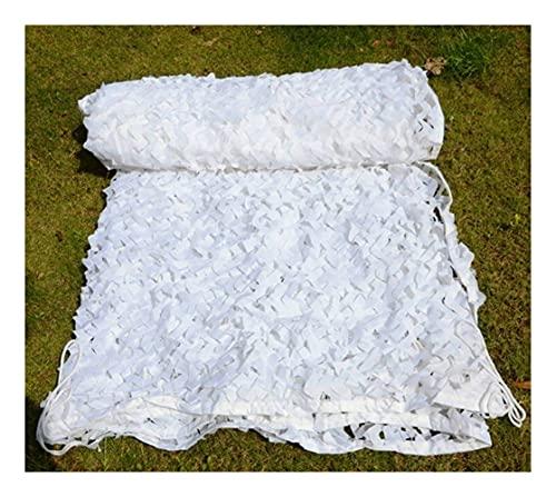 OPYTR Rete Mimetica 2 * 3m 3 * 3 White Mesh Military Camouflage Nets Rinforzato per Garden Tenda da Sole Pergola Esterno Nascondi Sun Shelter Shade Gazebo 3x3 3x5 Parasole