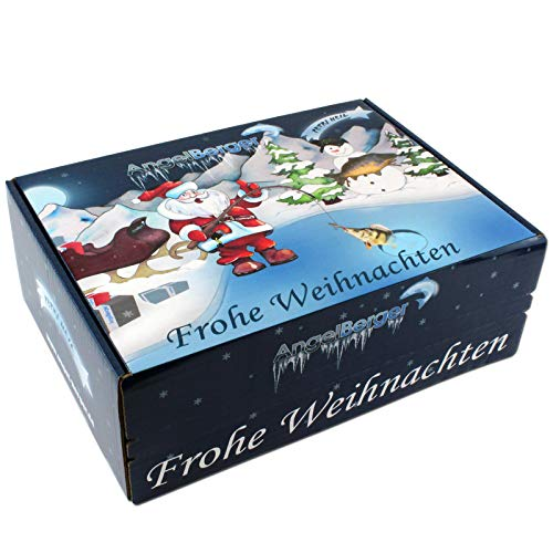 Angel-Berger Angel Weihnachtsbox Angler Geschenk Weihnachten Petri Box Adventsgeschenk