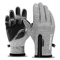 冬の暖かい手袋 ウィンタースポーツバイク手袋火防風暖かいフル指タッチサイクリング手袋男性女性のための防水自転車手袋 (Color : Model 3 White, Size : M)