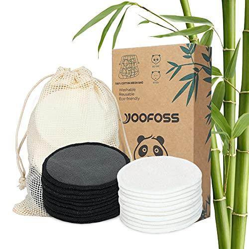 Yoofoss Discos Desmaquillantes 20 Desmaquillantes Reutilizables de Lavado Fibra Facial Lavables Aptos Para Todo Tipo de Pieles