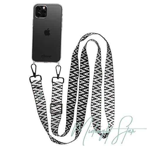 NOOMYA® Premium Fashion Handykette | Set Handyband mit Handyhülle kompatibel mit iPhone 11 | Handygurt zum Umhängen | Necklace Hülle mit Band | Set Hülle iPhone 11 & Band Midnight Star