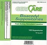 Bisacodyl Suppositories - 100 Each / Box
