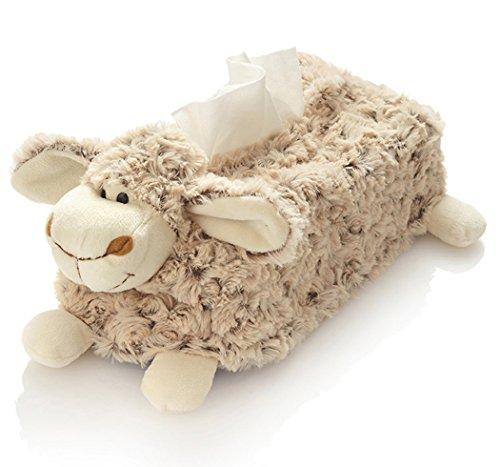 Hansen Plüsch Schaf Kosmetiktücherbox 25 cm braun Kinder Kind Baby Lamm Lämmchen kuschelweich