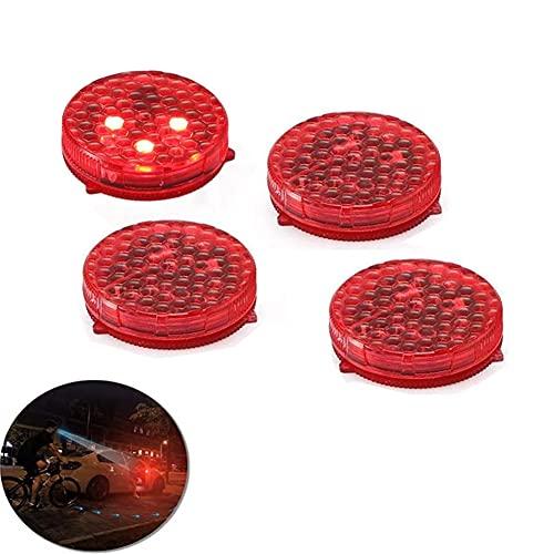 Youngine 4 Stück Universal Auto Tür Warnlicht Anti-Kollision LED Sicherheitsleuchte Stroboskop Blinken Offen Reflektor Lampe Auto On/Off mit 3 Blinkmodi (Rot)