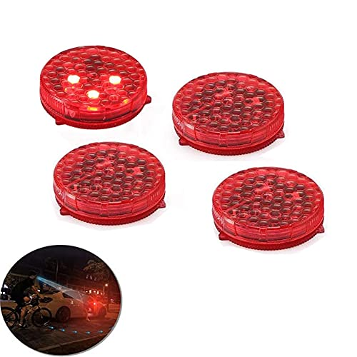 Youngine 4 luces de advertencia universales para puerta de coche, anticolisión, luz de seguridad estroboscópica intermitente abierta, con 3 modos de parpadeo (rojo)