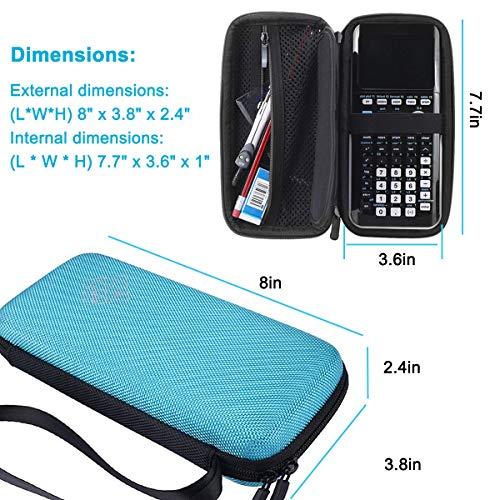 XBERSTAR Hard EVA Shockproof Carry Case Bag Pouch for Texas Instruments TI-84 Plus CE/Color TI-83 Plus,TI-89 Titanium, HP 50G Graphing, Scientific Financial Calculators (Blue) … Photo #7
