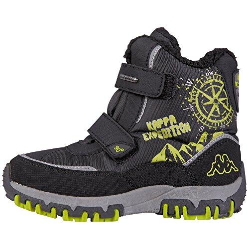 Kappa DENTON II TEX K Footwear Kids, Boots mixte enfant - Multicolore (1133 black/lime), 29 EU