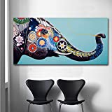 JHGJHK Exquisite Leinwand Dekoration HD-Druck Elefant