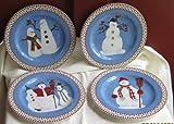 Debbie Mumm Snowman 8 Inch Dessert Plates By Sakura