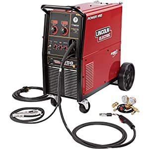 Lincoln Electric Power MIG 256 Flux-Cored/MIG Welder with Cart - Transformer, 230V, 30-300 Amp Output, Model NumberK3068-1 by Lincoln Electric