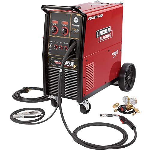 Lincoln Electric Power MIG 256 Flux-Cored/MIG Welder with Cart - Transformer, 230V, 30-300 Amp Output, Model NumberK3068-1