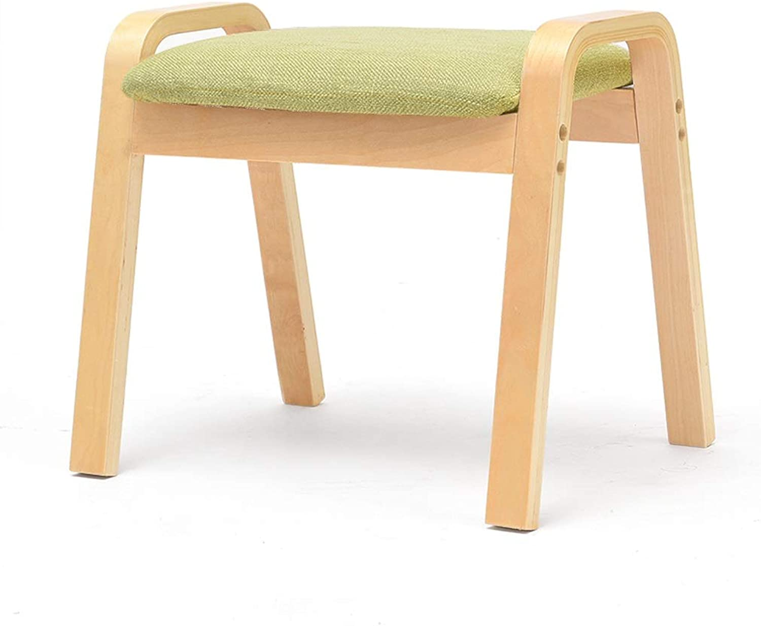 CXQ Fashion Creative Simple Stool Home Stool Change shoes Stool Solid Wood Square Stool Living Room Small Bench (color   Green)