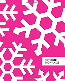 Notebook Snowflakes: (Christmas Magenta Edition) Fun notebook 192 ruled/lined pages (8x10 inches / 20.3x25.4 cm / Large Jo...