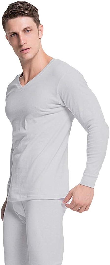 Icegrey V Neck Thermal Underwear Long John Set Cotton Warm Base Layer